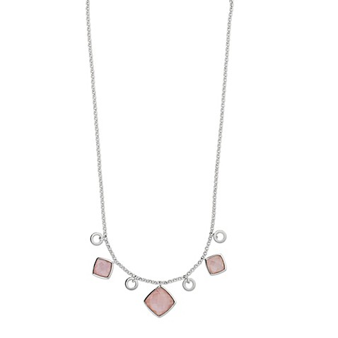 ELLE Jewelry Empire Sterling Silver 18-Inch Rose Quartz Necklace