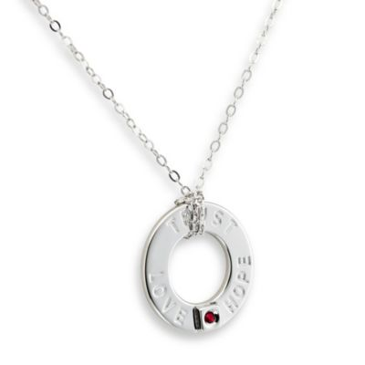 ELLE Jewelry Emotion Sterling Silver Love, Hope, Trust 18-Inch Necklace