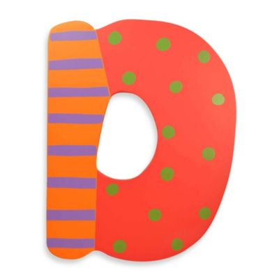 "Bright-Colored Wooden Letter ""D"""