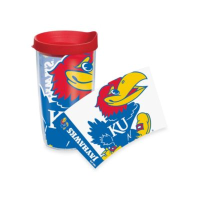 Tervis® University of Kansas Jayhawks 16-Ounce Wrap Tumbler with Red Lid