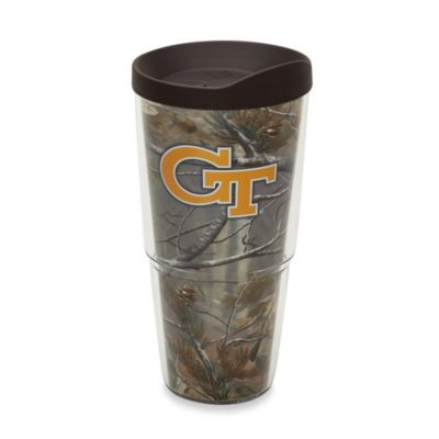 Tervis® Real Tree Georgia Tech 24-Ounce Wrap Tumbler with Brown Lid