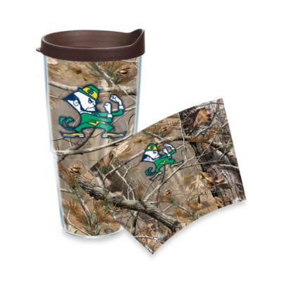 Tervis® Realtree AP University of Notre Dame 24-Ounce Wrap Tumbler with Brown Lid