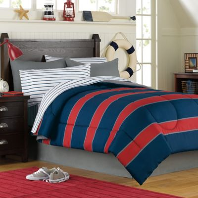 Rugby 6-8 Piece Comforter and Sheet Set