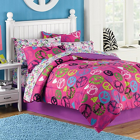 Peace 6-8 Piece Comforter and Sheet Set