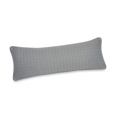 Downtown Company Urban Quilted Cotton Oblong Pillow in Quarry Gray