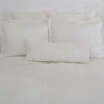 Downtown Company Urban Quilted Cotton Coverlet in Ivory