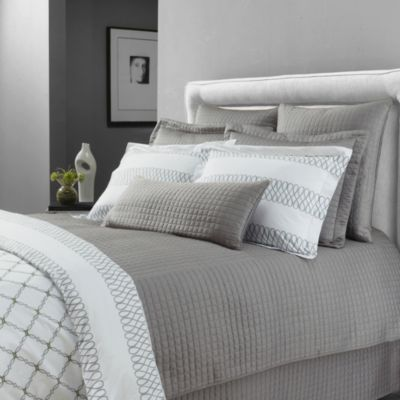 Downtown Company Urban Quilted Cotton Queen Coverlet in Quarry Grey