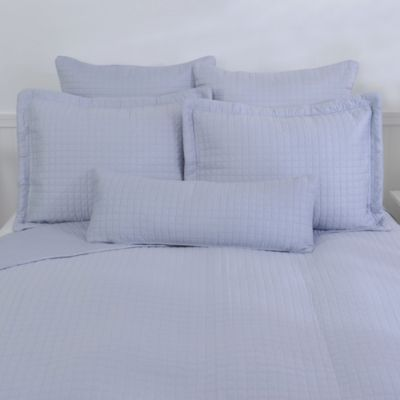 Downtown Company Urban Quilted Cotton Pillow Sham in Oasis Blue