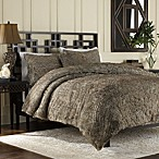 Luxury Fur Duvet Cover and Sham Set in Chocolate