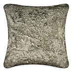 Luxury Fur Square Toss Pillow in Grey