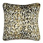 Luxury Fur Square Toss Pillow in Leopard