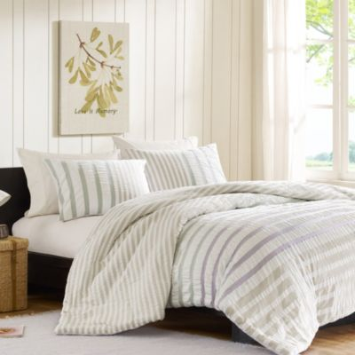 Ink + Ivy Sutton Twin Duvet Cover and Sham Set