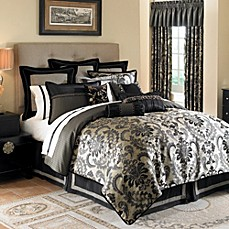 Waterford® Ormonde Bed Skirts in Black and Gold