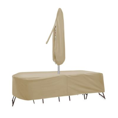 Protective Covers by Adco Oval/Rectangle Bar Height Table and Chair Cover with Umbrella Hole