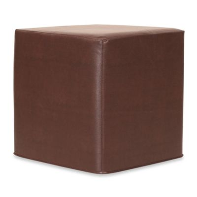 Howard Elliott® No Tip Block Ottoman in Avanti Pecan