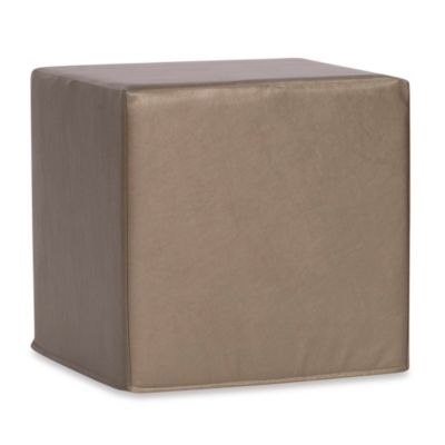 Howard Elliott® No Tip Block Ottoman in Shimmer Sapphire