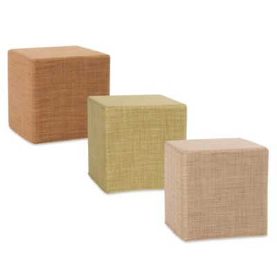Howard Elliott® No Tip Block Ottoman in Coco
