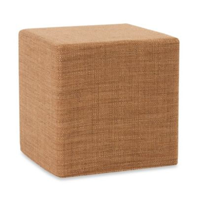 Howard Elliott® No Tip Block Ottoman in Coco Topaz