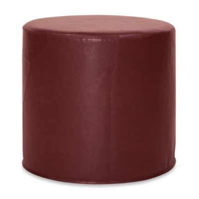 Howard Elliott® No Tip Cylinder Ottoman in Avanti Pecan