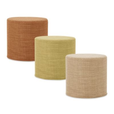 Howard Elliott® No Tip Cylinder Ottoman in Coco