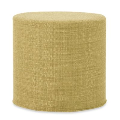 Howard Elliott® No Tip Cylinder Ottoman in Coco Peridot