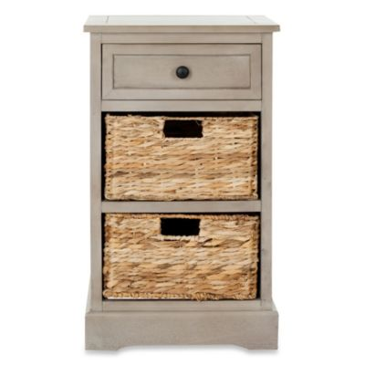 Safavieh Carrie Side Storage Table in Cream