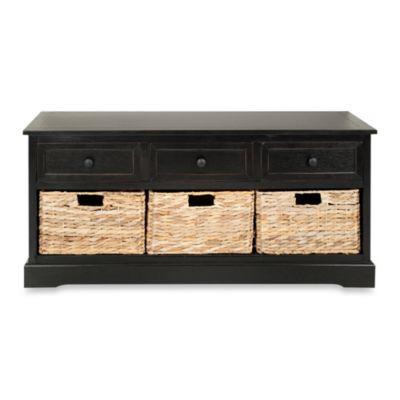Safavieh Damien 3-Drawer Storage Unit in Black