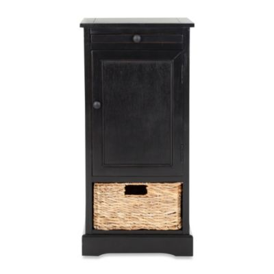 Black Storage Unit with Basket