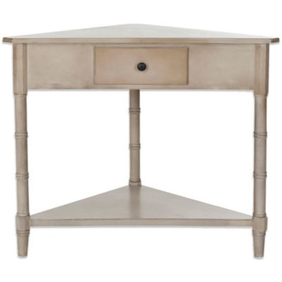 Safavieh Gomez Corner Table in Cream