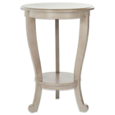 Safavieh Mary Pedestal Side Table in Cream