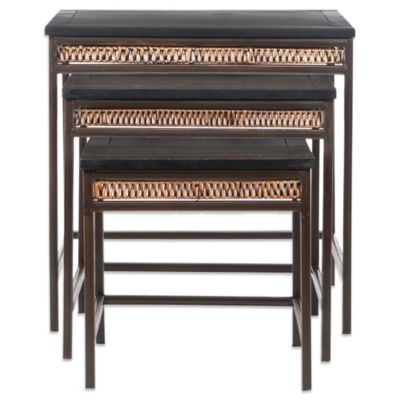 Safavieh Stacking Tables in Black Walnut Finish
