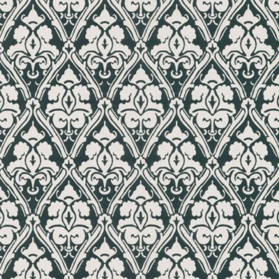 Echo Design™ Damask Wallpaper Sample in Black