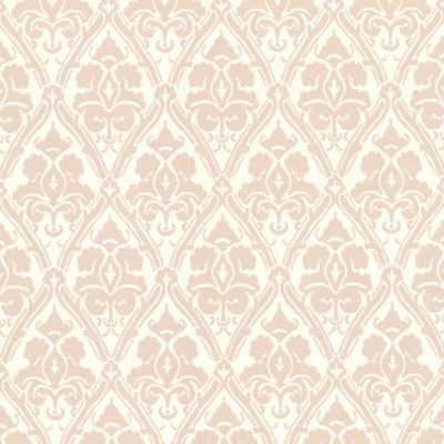 Damask Wallpaper Sample in Taupe