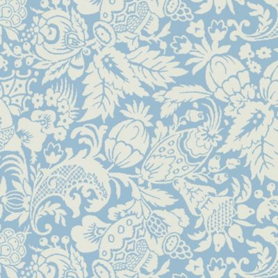 Bali Wallpaper Sample in Blue