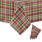 Nashville Plaid Spice Woven Tablecloth and Napkin