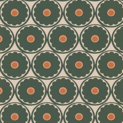 Echo Design™ Retro Floral Wallpaper Sample in Peach