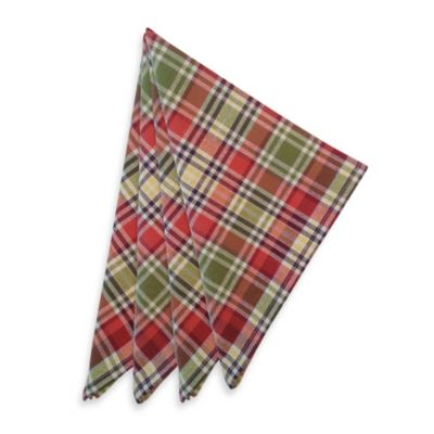 Nashville Plaid Spice Woven 4-Pack of Napkins