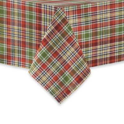 Nashville Plaid Spice Woven Tablecloth