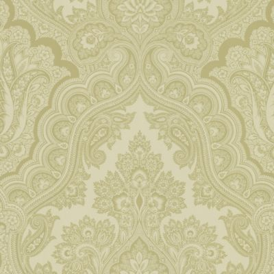 Beige Paisley Wallpaper