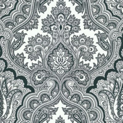 Echo Design™ Paisley Wallpaper Sample in Black and White
