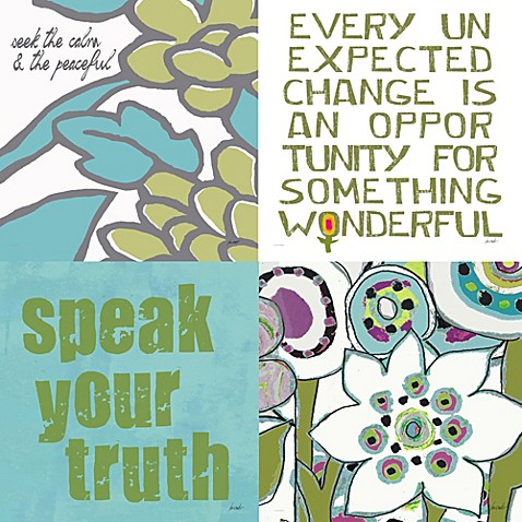 Lisa Weedn Truth Wall Art (Set of 4)