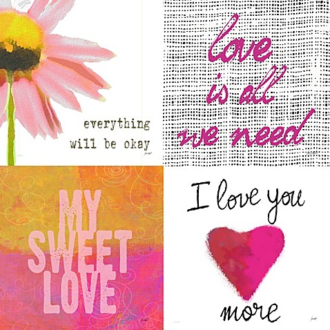 Lisa Weedn Love Wall Art (Set of 4)