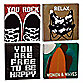 Lisa Weedn Free to Be Happy 4-Piece Wall Art