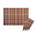 Nashville Plaid Spice Woven Placemat and Napkins