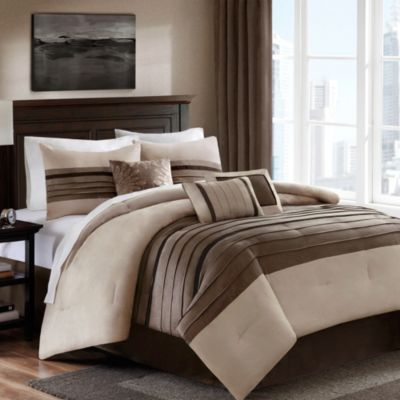 Dylan 7-Piece Queen Comforter Set in Sand