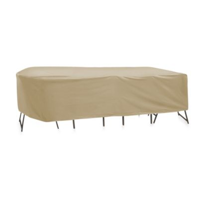 Protective Covers Oval/Rectangle 135-Inch x 60-Inch Table and Chair Cover without Umbrella Hole