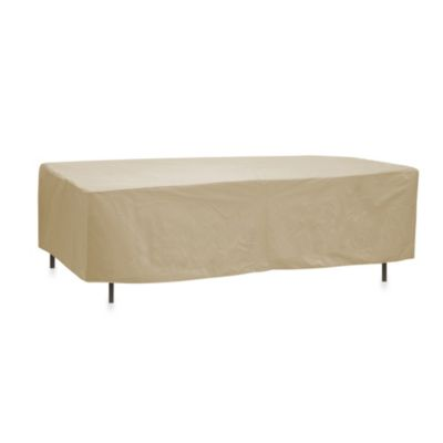 Protective Covers by Adco Oval/Rectangle 84-Inch x 48-Inch Table Cover without Umbrella Hole