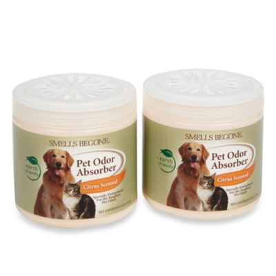Smells BeGone® Pet Odor Absorber Citrus Solid Air Freshener 15-Ounce Jars (2-Pack)