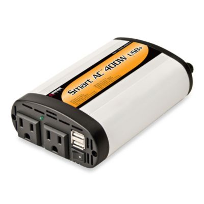 Wagan Smart AC 400 USB Power Inverter in White