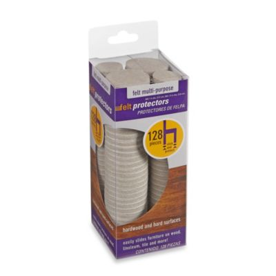 128-Count Hardwood and Hard Surfaces Oatmeal Felt Protectors
